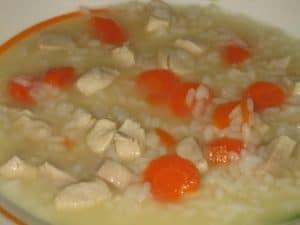 Recetas baby led weaning BLW arroz blanco con zanahoria y pechuga