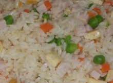 Receta: arroz blanco con salteado de verduras.